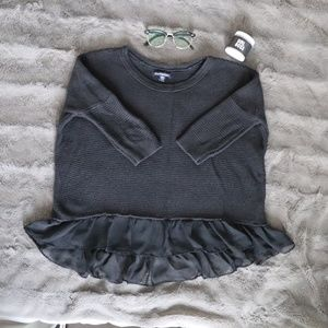 🌸 3 For $30 🌸 American Eagle Black Frill Top